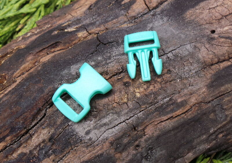 5 x 10MM 3//8 GREEN CONTOURED QUICK RELEASE PARACORD SURVIVAL BUSHCRAFT BUCKLE