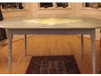 Interesting upstyled dining table