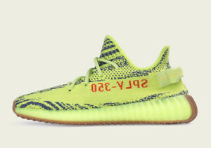 Adidas Yeezy Boost 350 V2 Semi Frozen Yellow, US Size 10