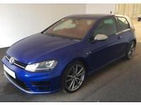2014 BLUE VW GOLF R 2.0 TSI 300 DSG 4X4 PETROL 3DR HATCH CAR FINANCE FR £62 PW