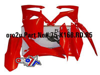New CRF 450 R 13-15 250 14-15 All Red Racetech Plastic Kit Plastics Front Plate