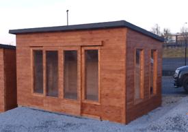 4.5mt x 3mt timber garden rooms summerhouse office gym