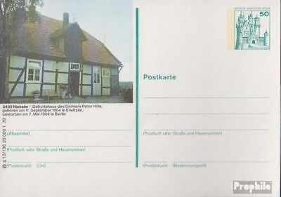 Berlijn (West) P113 Officiële Postcard ongebruikte 1979 Kastelen u. Sloten