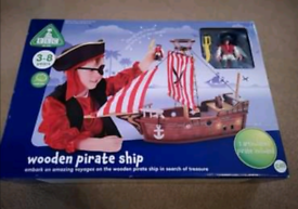 Brand NEW Wooden Pirate Ship