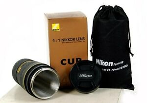 Nikon-Lens-1-1-AF-S-24-70mm-f-2-8-Stainless-Coffee-Cup-Mug-with-Pouch-USA-SELLER