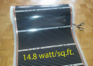 Floor Heating Film 220/240v, 14.8w/sq.ft. St. John's Newfoundland image 1