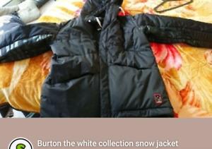 Burton the white collection snow jacket