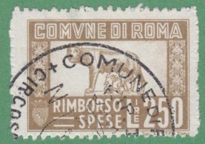 Italy Roma Rome Municipal Revenue Koeppel  147 Used 250L Atel Roma Cv  25
