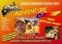 SUMMER ADVENTURE CHAMP CAMP!