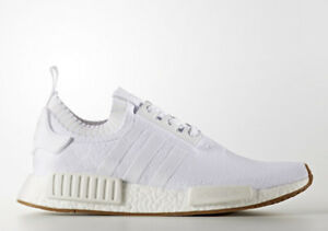 DS Adidas NMD PK White (Gum Sole), size 9