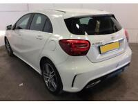 2016 WHITE MERCEDES A180 1.5 CDI AMG LINE DIESEL AUTO CAR FINANCE FROM 62 P/WK