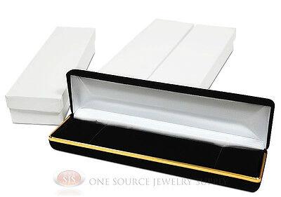 3 Piece Bracelet Watch Black Velvet Metal Jewelry Gift Boxes 8w X 2d X 1 18h