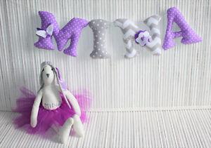 HANDMADE wall letters perfect nursery decoration :)