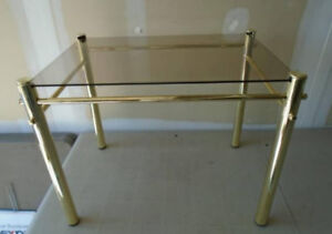 Glass & Brass Side Table - Delivery Available