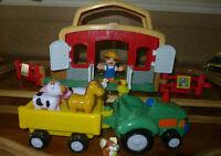 Ferme des animaux et tracteur, interactifs F-P, 20 mcx 20$