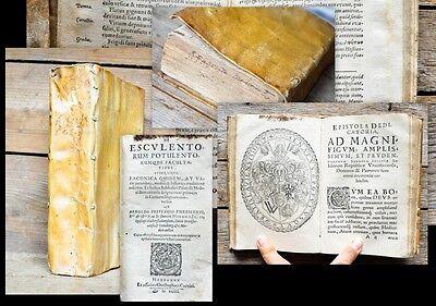 1589-93 Sammelband Gastronomie Gastronomy Medizin exotische Pflanzen Breslau EA