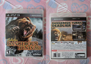 PS3 - The Last of us or cabelas's dangerous Hunts 2013-USED