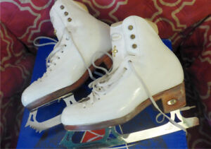 sz 5 B-A Riedell Figure Skates Model 1310 .  With GAM G18 blades
