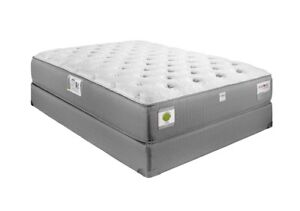 FLAT TOP MATTRESS,BOX SPRING, MATALFRAME AND SIDE TABLE,