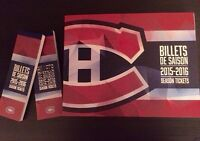 4x Montreal Canadiens Billets Tickets BLANCS / WHITES * PAS CHER