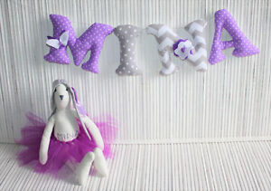 HANDMADE wall letters perfect nursery decoration :)