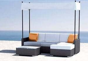New Wicker Rattan Outdoor Lounge Sofa Suite w/ Canopy Shade HX018 Dingley Village Kingston Area Preview