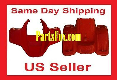 Kazuma Meerkat Front  Rear Fender Plastic Body 50CC ATV Mess Paint Red 70 Hensim