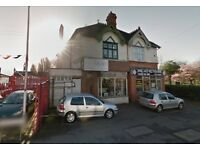 *SHOP AND FLAT TO LET* ONE BEDROOM FLAT* SOUTH YARDLEY* SHOP APPROX 700 SQ FT* GREAT LOCATION*