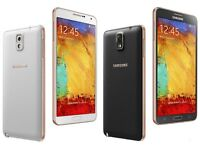 SAMSUNG GALAXY NOTE 3 (EXCELENT CONDITION/MIX COLOURS)