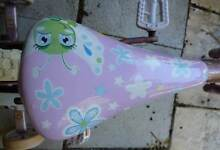 Seat + Padded Bumper for girls Southern Star FLOWER WONDER Bike. Wembley Cambridge Area Preview