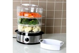 Eurolab 3 Tier Stainless Steel Food Steamer - new without box Melbourne CBD Melbourne City Preview
