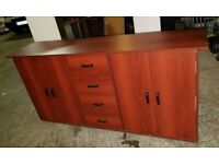 Unit mahogany sideboard
