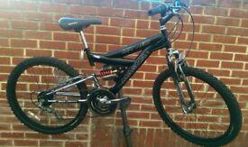 "Magna 24"" Wheels Dual Suspension Bike"