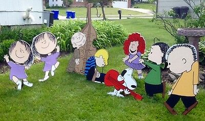 christmas dancing peanuts gang set of 8 yard art used for sale buffalo