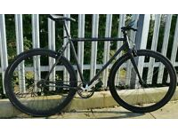 Black fixie single speed fixed gear