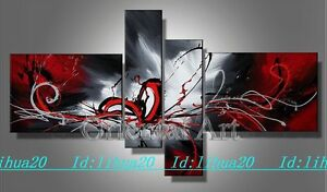 Hot-sell-new-4pc-Huge-WALL-Modern-Abstract-on-Canvas-decorative-Oil-Painting-Art