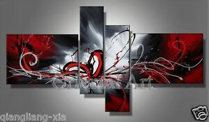 Framed!!! Handmade Modern Wall Art Set Abstract Huge Oil Painting On Canvas+GIFT