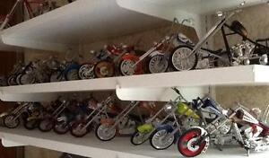 Various 1/18 Scale OCC Replica Choppers