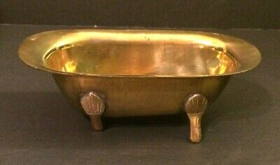 SOLID BRASS CLAW FOOT BATHTUB MINI SOAP DISH DOLL HOUSE FURNITURE Vintage NEW (Brass Solid Brass Soap)