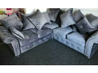 FACTORY-PACKED PLUSH VELVET CORNER SOFA AND 3+2 SOFA SET AVAILABLE