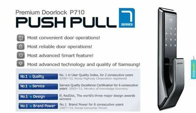 SAMSUNG SHP-DP710 Key Less PUSH PULL Digital Smart Door Lock (Pull From Outside)