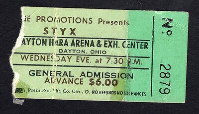 1978 Styx Mahogany Rush concert ticket stub Dayton Hara Arena Ohio Pieces of 8