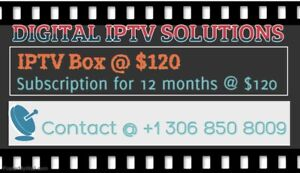 IPTV BOX AND SUBSCRIPTIONS AVAILABLE AT AFFORDABLE PRICE