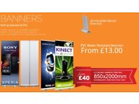 Banners, Roller Banners With Limited Time Discount Offers, same day banner printing at Bargain Price