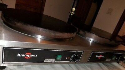 "Krampouz CECIJ4 34"" x 17"" Dual Electric Cast Iron Crepe Maker"