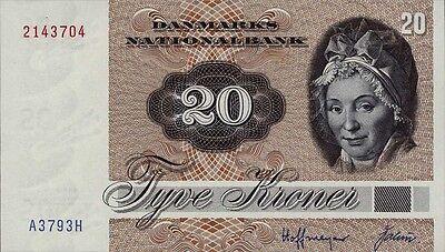 Dänemark / Denmark 20 Kronen 1979-1988 Pick 49 (1)