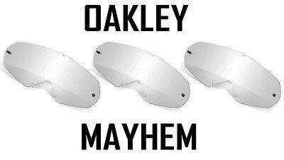 Oakley Mayhem Ersatz Motocross Enduro Brille Gläser Klar X 3