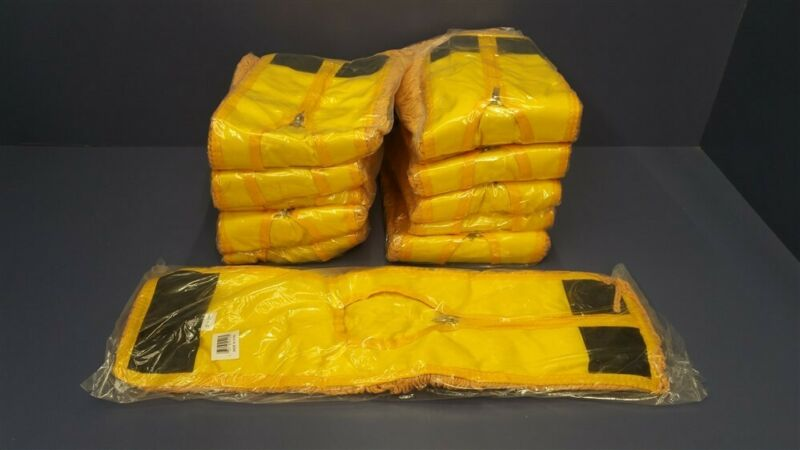 """Lot of 12 H.D. Yellow Looped-End Dust Mop Head Replacement 5"""" x 18"""" 5218"""