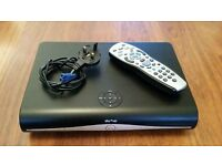 Sky plus hd box with remote and power lead