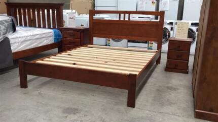 Brand new NZ Pine timber bed frame in K/Q/D/KS/S